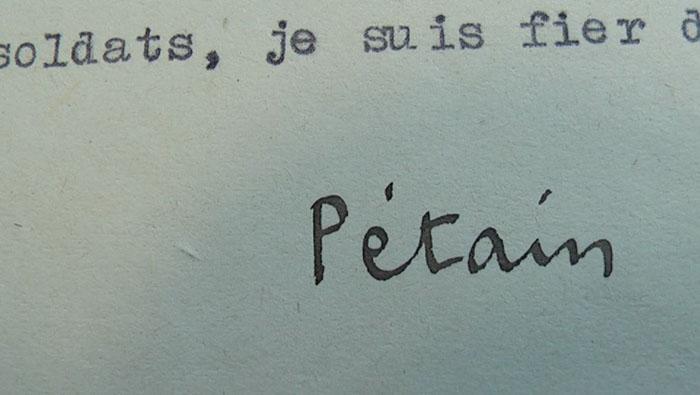 Signature Pétain