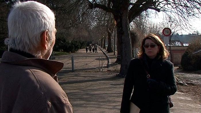 Edmond et Sophie Leclanché, 60 ans exactement après l'étude de l'évasion de Camille par Edmond sur la Gestapo de Vichy située à l'hôtel du Portugal